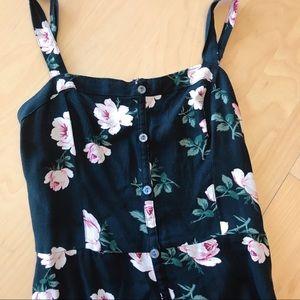 Hollister Floral Button Up Dress